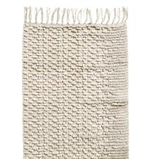 Bomullsmatte med frynser 75x150 cm - hvit