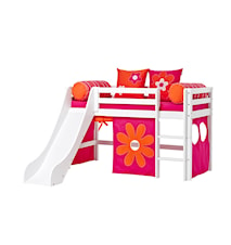 Basic slide loftsäng – Flower power sängpaket