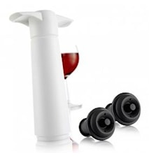 Wine saver lahjapakkaus valkoinen