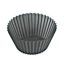 Muffinsform Liten 12st Silikon Svart