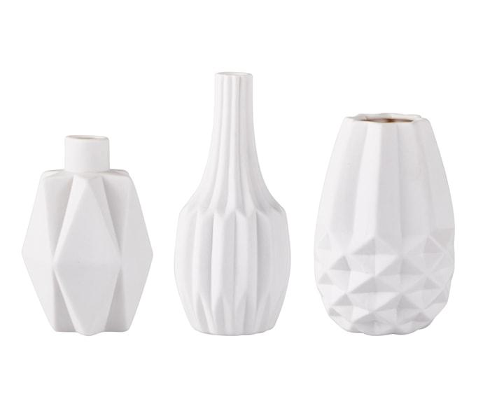 Vase Keramikk Hvit 12 cm