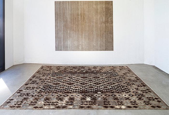 Kelim Natural Gulvtæppe Dark grey/brown/black - 80x300