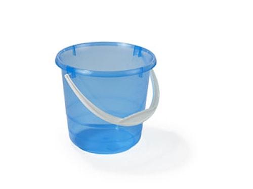 Plastbøtte 5L Transparent/Blå