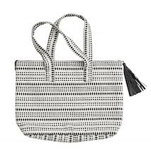 Large bag w/shoulder straps, black/white