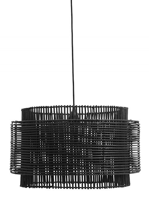 RATTAN pendant lamp shade, black