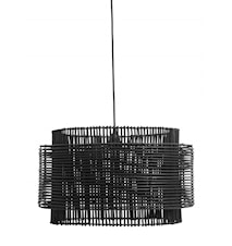 RATTAN pendant lamp shade, black