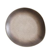 70's Keramik Tallerken Sand