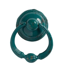 Handtag med ring Ø 5 cm - Turkos