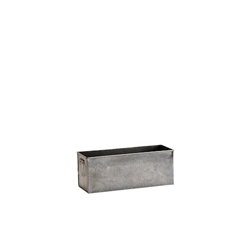 Blomkruka 28,5x10,5x11 cm - Zinc