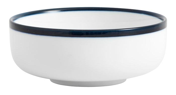 Skål BLUE RIM Ø 12 cm - Vit/Blå