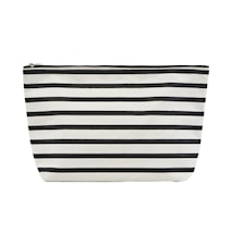 Toilet bag, Stripes, Black/White ,l: 32 cm, w: 8 cm, h: 20 cm