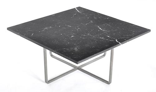 Ninety 80x80 sofabord - Svart marmor/stomme rustfritt stål