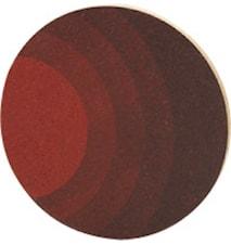 Grytunderlägg Rund Kork Röd 20 cm