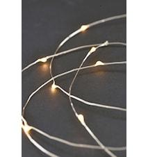 Lyslynge 80 lamper 10 m - Sølv