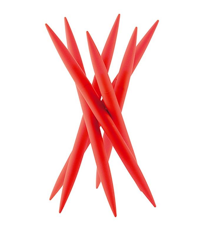 Knivställ med 6 st köttknivar Röd