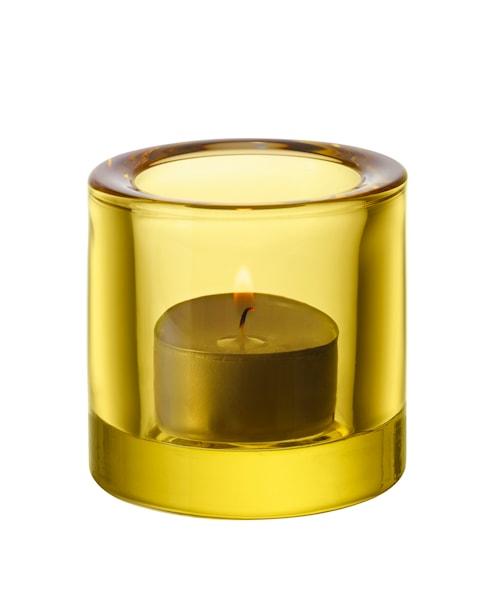 Kivi lysestage 60mm citrongul /gavepakning