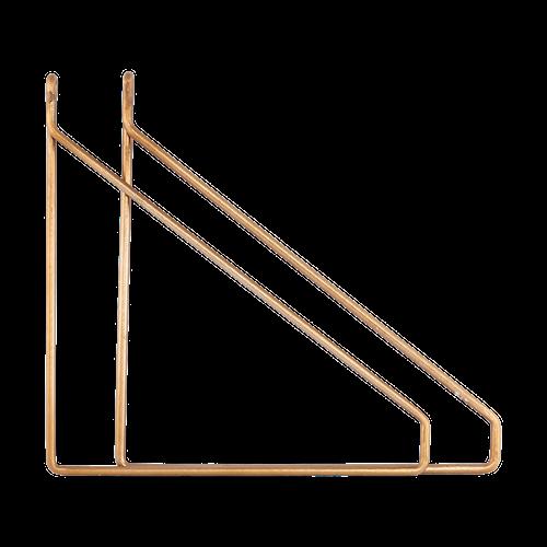 Apart Konsol 2-pack Messingbelagt 25,5x26 cm