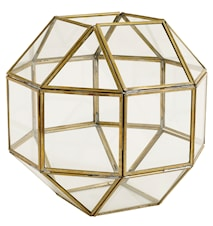 Edged brass lantern Medium