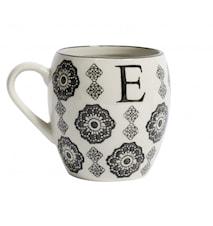 LETTER cup, E, black