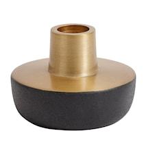 Kynttilänjalka Chub 6 cm - Musta/Messinki