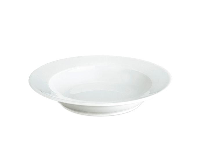 Sancerre Syvä lautanen valkoinen 22 cm