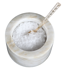 Saltkar Vit marmor 11 cm Ø 10,5 cm