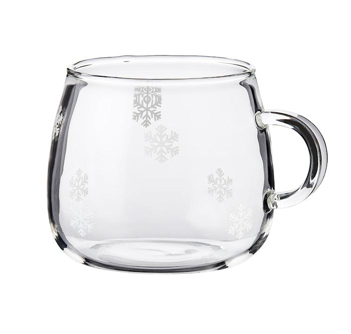 Fager Glasmugg Snöstjärna 4-pack