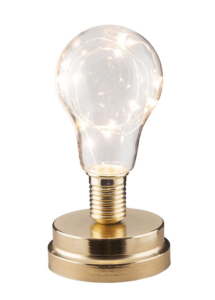 Lampe med LED-ledning Messing 18 cm