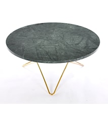Big O table matbord - Green indio/brass