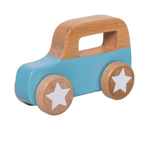 Lekebil Tre Blå 11x17