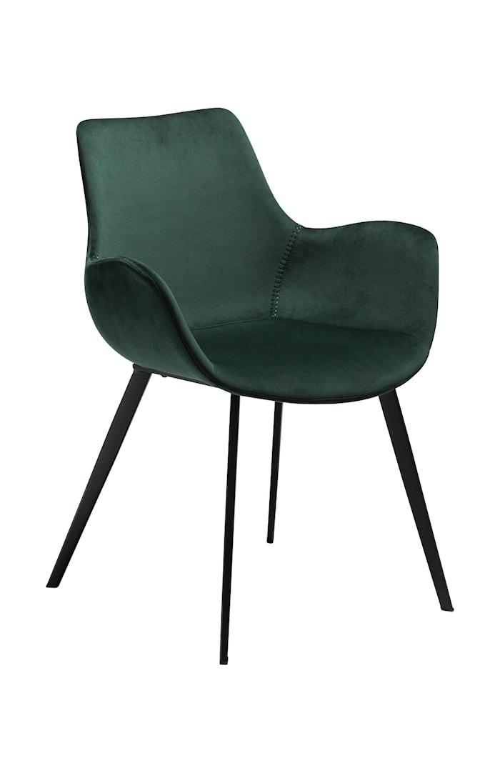 Karmstol Hype Velour - Emerald Grön