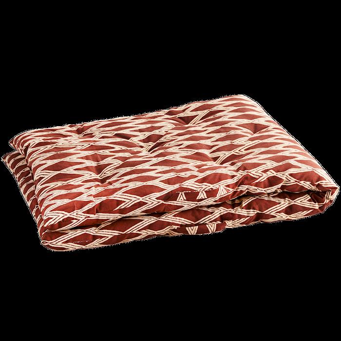 Stolsdyna Bomull Röd/Pärlemo 70x180cm