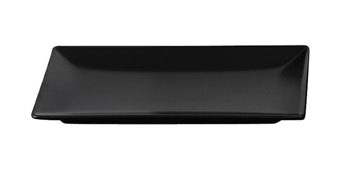 Tallrik 25,5x15 cm Svart