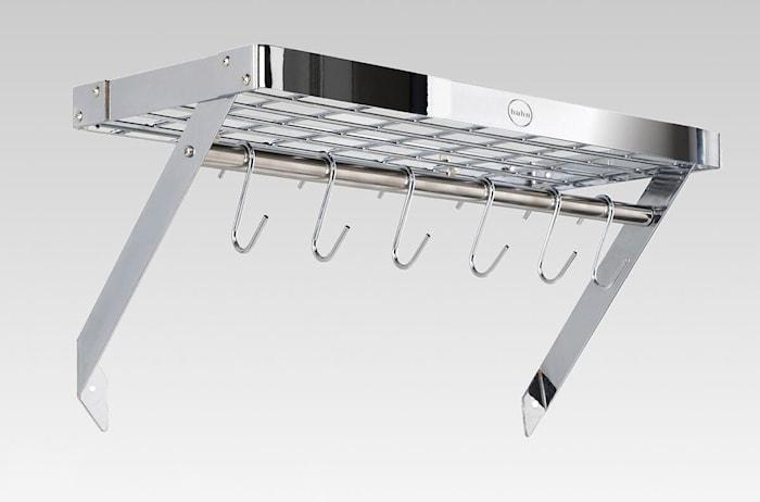 Hahn Premium vegghylle 60x28x4 cm Krom