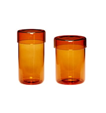 Förvaringsburk Glas Orange 2 st