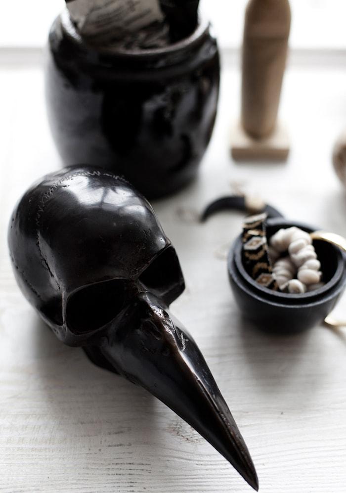 Garuda Brons Skull Bronsskulptur