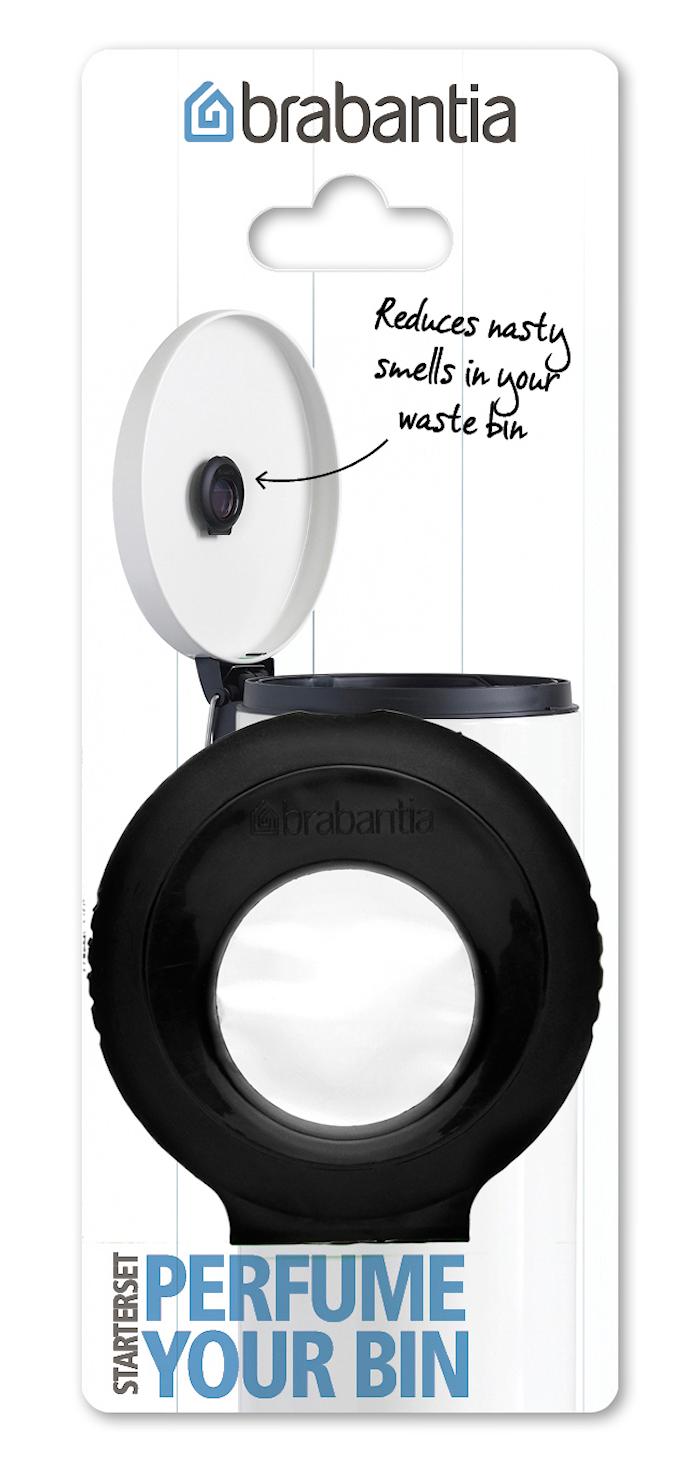 Pefume Your Bin-aloituspaketti (pidike + kapseli) musta/kukkaistuoksu