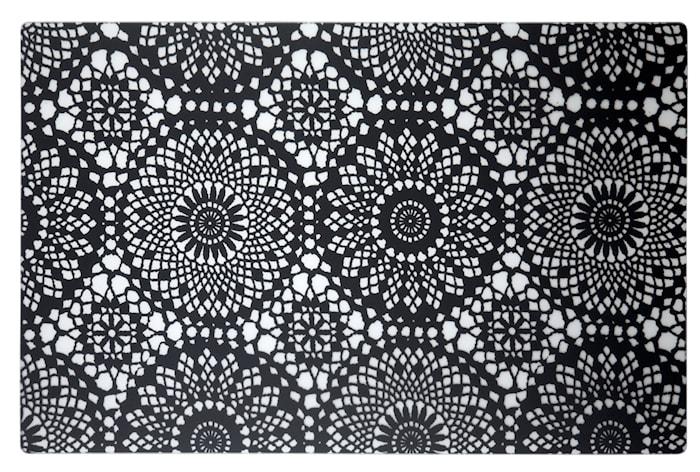 Pöytätabletti, kuvioitu ja läpinäkyvä 44x28,5 cm