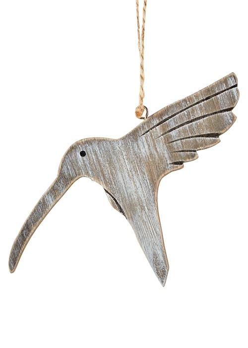 Prydnad Fågel Grå 18,5x10cm