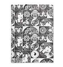 Kjøkkenhåndkle, mørkegrå, 50x70 cm