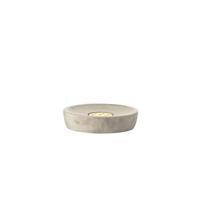 Saxo Tvålfat Grå 10,5x2,5 cm