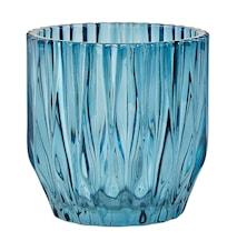 Skjuler - Glas - Blå - D 13,0cm - H 13,0cm - Stk.