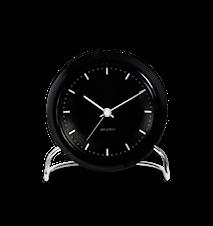 Arne Jacobsen City Hall bordsur, svart/svart, Ø 11 cm, alarmfunksjon