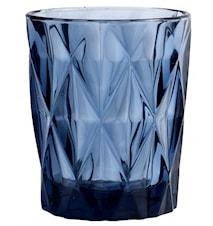 DIAMOND drinking glass, S, blue