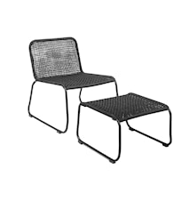 Loungestol Metal 77x73 cm - Sort