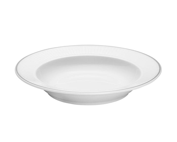 Vienne Plissé tallerken dyp hvit 22 cm