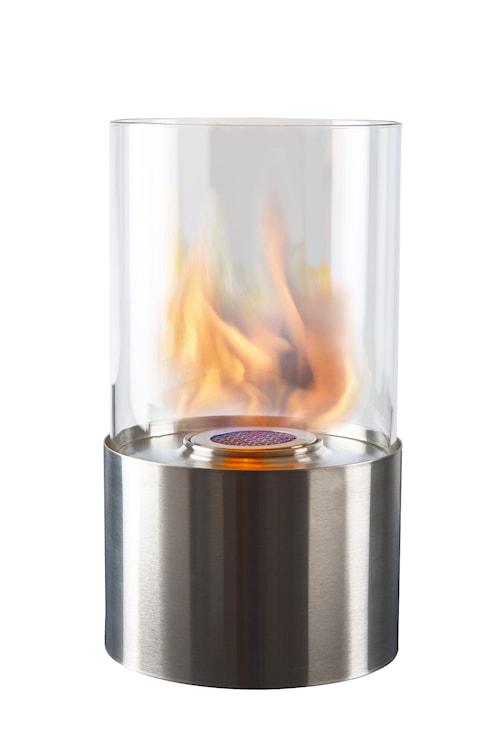 Lysholder rund rustfri bioetanol højde 28 cm