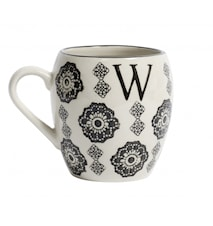 LETTER cup, W, black