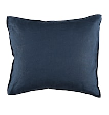 Örngott linne 50x60 cm - Mörkblå