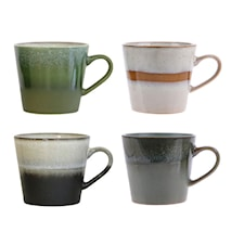 70's Kaffekopper Multicolor sæt af 4